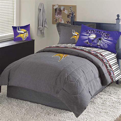 minnesota vikings nfl team denim queen comforter sheet set