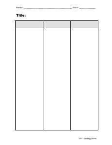 column chart freeology