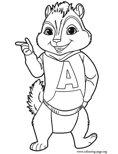 Alvin And The Chipmunk Coloring Pages Alvin And The Chipmunks Alvin Coloring Page