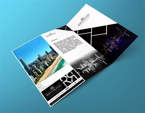 Real Estate Brochure Design Inspiration by Modern Real Estate Brochure Design For Rent