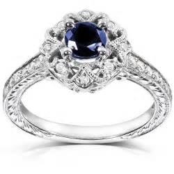 rings engagement 1 carat antique sapphire and engagement ring jewelocean