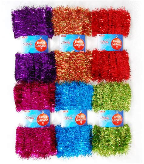 wholesale 2 ply tinsel garland sku 2127576 dollardays