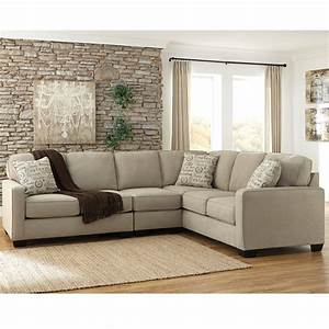 Signature design by ashley alenya 3 piece raf sofa for Alenya 3 piece raf sofa sectional in quartz