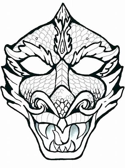 Coloring African Mask Pages Dragon Totem Pole