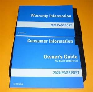 2020 Honda Passport Owners Guide Manual Set 20  Case Sport