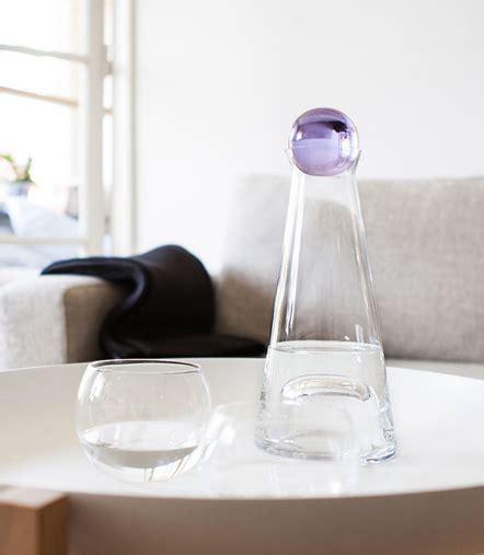 nordic modern murano style water bottle  oz water carafe