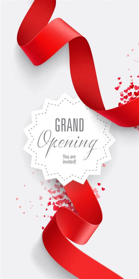 grand opening   invited lettering
