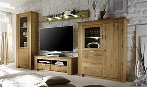 Wohnzimmer Eiche Massiv : wohnwand eiche massiv modern hause deko ideen ~ Markanthonyermac.com Haus und Dekorationen