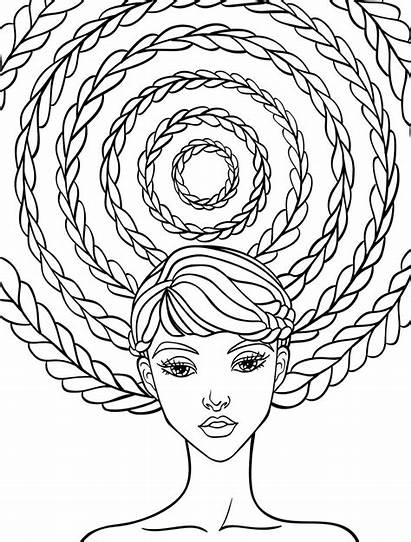 Coloring Pages Adult Hair Crazy Relaxing Downloads