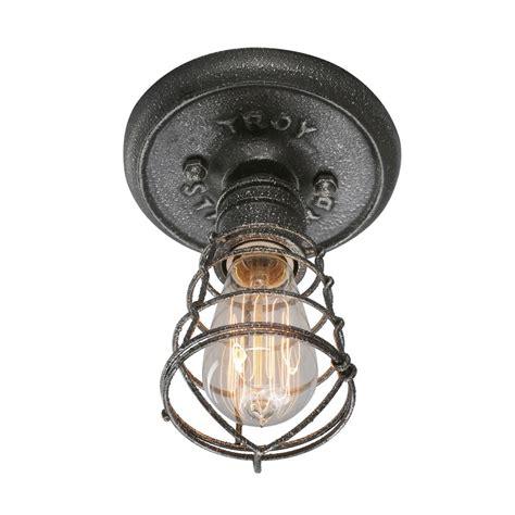 troy lighting conduit  light  silver flush mount