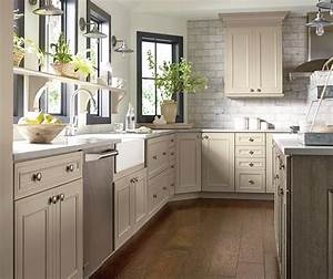 taupe kitchen cabinets decora cabinetry With what kind of paint to use on kitchen cabinets for cotton sticker