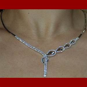 parure infinity pendante or blanc 18 carats bijouterie With parure or mariage