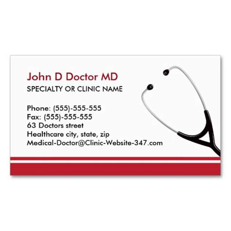 medical doctor  healthcare business cards zazzlecom