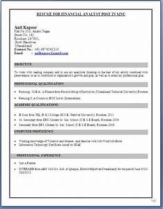 ca inter resume format With ca resume