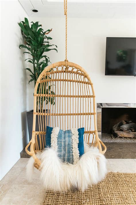 bedroom swing chair peaceful yet stunning bohemian bungalow decoholic 10697 | Stunning Bohemian Bungalow 7