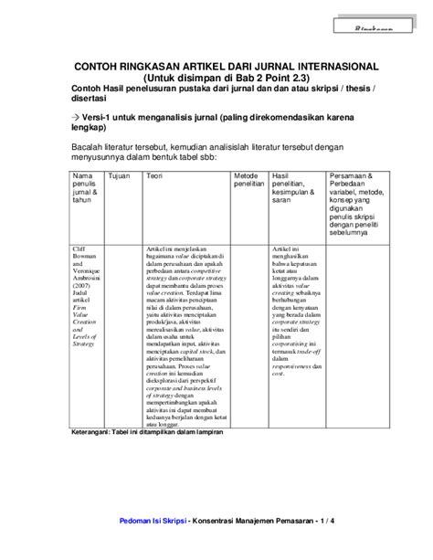 (DOC) CONTOH RINGKASAN ARTIKEL DARI JURNAL INTERNASIONAL