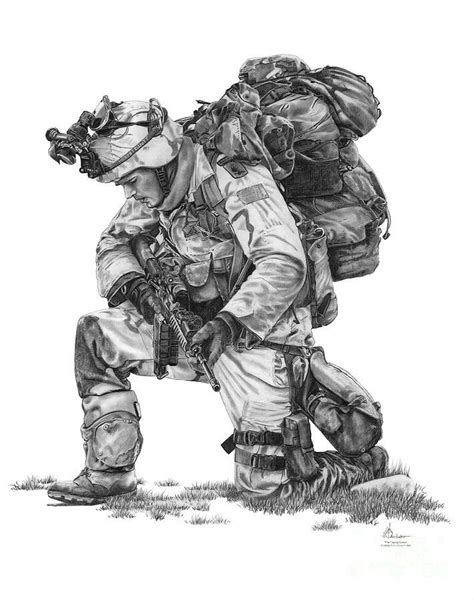 Praying soldier in 2019   Soldier drawing, Military tattoos, Military art