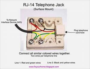 House Phone Jack Wiring Diagram Get Free Image About