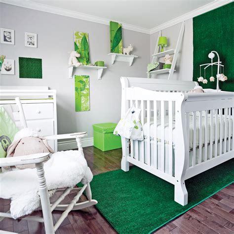 chambre de bébé autour de bébé chambre verte bebe