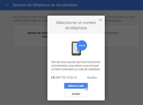 modifier les options de r 233 cup 233 ration du mot de passe gmail