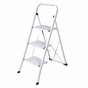 Leiter 3 Stufen : haushaltsleiter stehleiter 3 stufen wei lackiert ~ Markanthonyermac.com Haus und Dekorationen