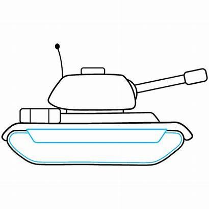 Tank Drawing Step Draw Easy