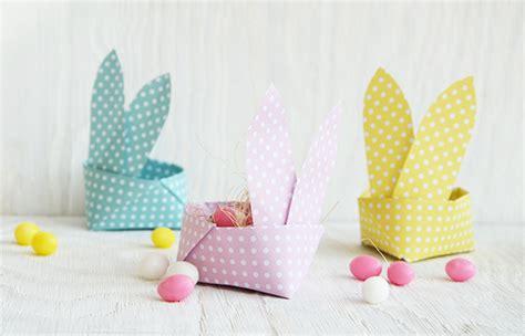 origami osterkorb als hase kostenlose vorlage