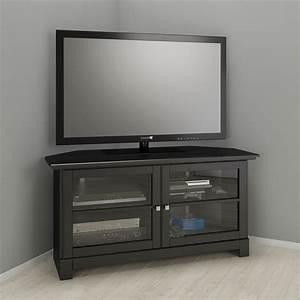 Meuble Tv En Coin : meuble tv audio vid o moderne en coin noir ~ Farleysfitness.com Idées de Décoration