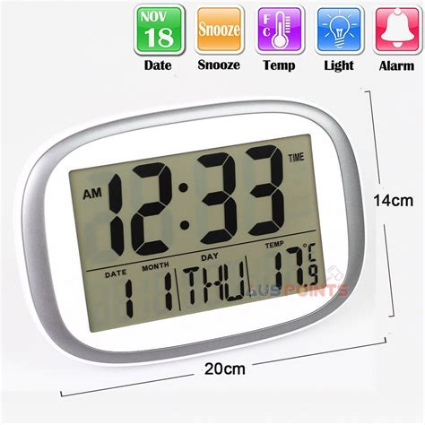 digital clock with green blue led light big display wall