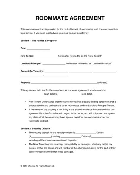 renting  room agreement  main group