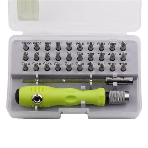 practical 32 in 1 multipurpose precision screwdriver set disassemble electronic repair tools kit