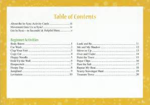 What Do Table of Contents Look Like