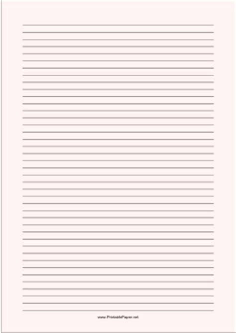 printable lined paper pale red narrow black lines