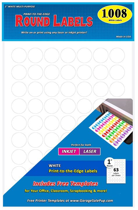 avery 6450 template pack of 1008 1 inch diameter dot labels white 8 1 2 x 11 quot sheet fit all