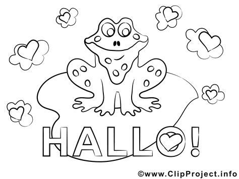 frosch hallo ausmalbilder fuer kinder kostenlos ausdrucken