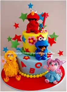 Sesame Street Kids Birthday Cake