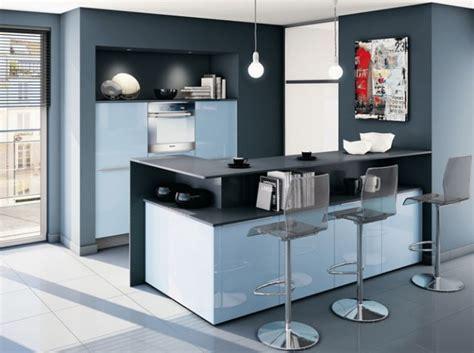 cuisine blanche et bleu idee deco cuisine blanche et bleu