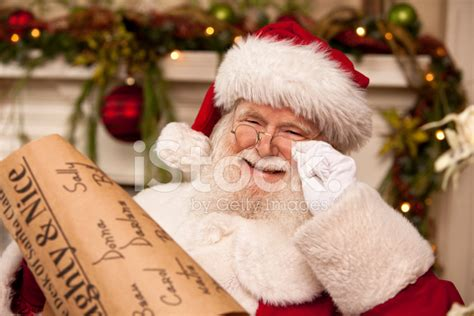 pictures  real santa clauss list hes checking