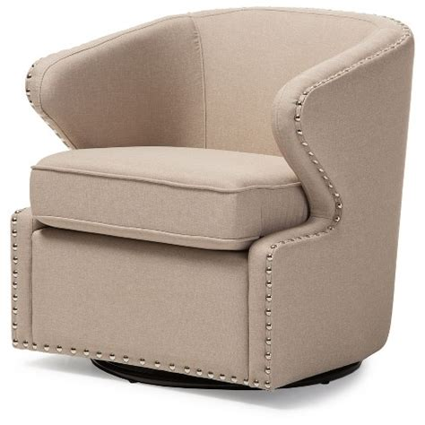 Modern Fabric Armchair by Finley Mid Century Modern Fabric Upholstered Swivel