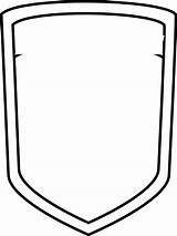 Shield Template Blank Badge Police Soccer Coloring Clipart Football Sheild Cliparts Outline Clip Crest Vector Clker Library Plain Pages Designs sketch template