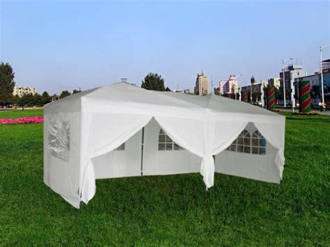 exacme white  ft easy pop  wedding canopy party tent gazebo  side walls  carry