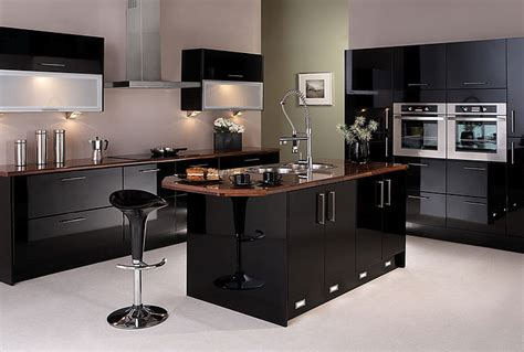 Felton Gloss Black Kitchen, Package 1  The Kitchens