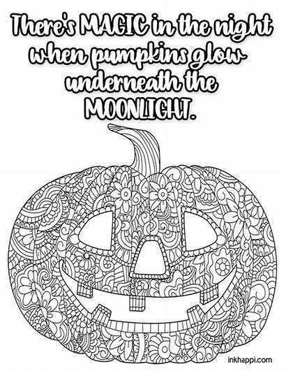 Coloring Halloween Pages Sayings Fun Inkhappi Skull
