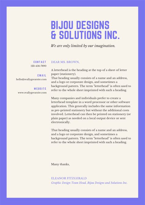 amazing business company letterhead designs includes