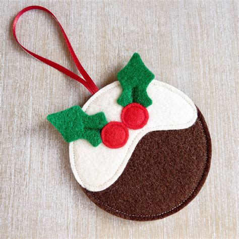 handmade felt pudding christmas decoration by be good