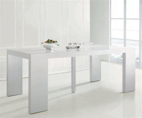 console extensible blanc laque console extensible illusion laque blanc brillant