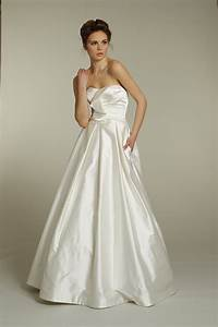 classic strapless a line silk taffeta wedding dress by With taffeta wedding dress