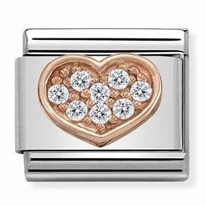 Nomination CLASSIC Symbols Rose Gold Heart Charm 430302/13 ...