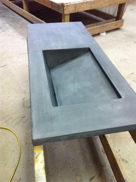 hometalk concrete bath vanity  integral sink