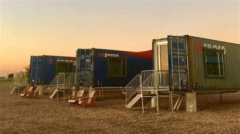 flophouze   texas hotel   shipping containers
